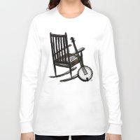 banjo Long Sleeve T-shirts featuring Grandma's Banjo by LeahOwen