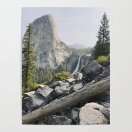 Liberty Cap and Nevada Falls in Morning Light Poster