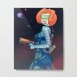 Space Gal Metal Print