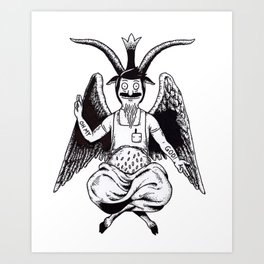 Bobphomet Art Print