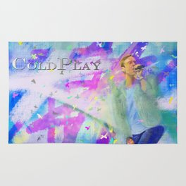 Chris Martin-Coldplay-Digital Impressionism Rug