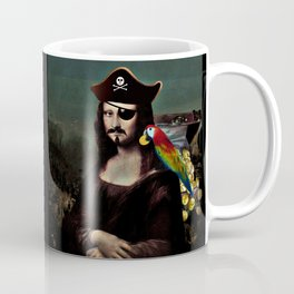Mona Lisa Pirate Captain Coffee Mug