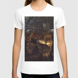 12,000px,500dpi-Adolph Menzel - The Iron Rolling Mil - Digital Remastered Edition T-shirt