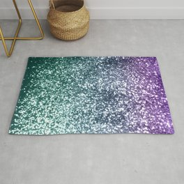 Aqua Purple Ombre Glitter #4 #decor #art #society6 Rug