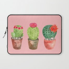 Three Cacti watercolor pink Laptop Sleeve