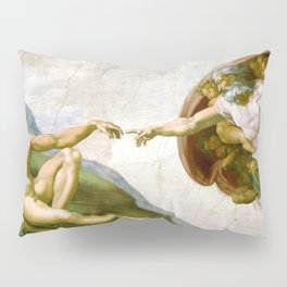 The Creation of Adam Painting by Michelangelo Sistine Chapel Pillow Sham