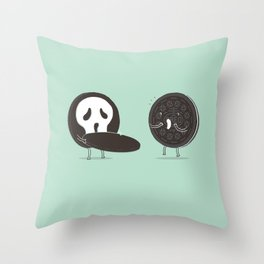 Cookies and Scream Throw Pillow