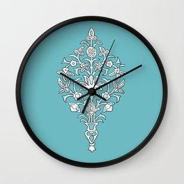 Swirly Flowers Wall Clock