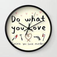 motivational Wall Clocks featuring Motivational Poster by Sophie Corrigan