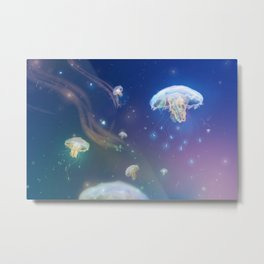 Fluid Jellyfish Metal Print