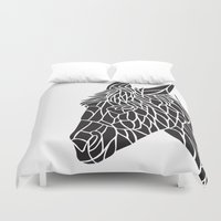 donkey Duvet Covers featuring Donkey by Gemma Bullen Design