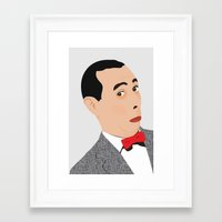 pee wee Framed Art Prints featuring pee-wee by Britt Whitaker Design