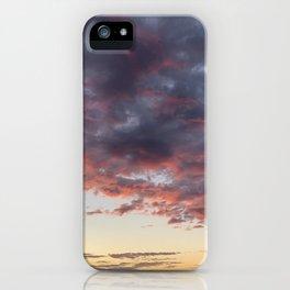 Pretty orange/red/blue clouds iPhone Case