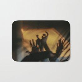 Strange hands in dark and light, parts of body, dancers, fingers Bath Mat