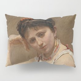 "Jean-Baptiste-Camille Corot ""Interrupted Reading"" Pillow Sham"
