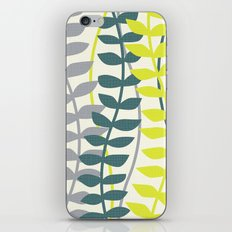 seagrass pattern - teal and lime iPhone & iPod Skin
