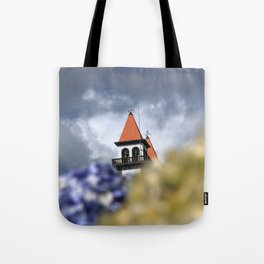 Church tower Tote Bag