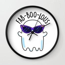 Fab-boo-lous Cute Halloween Ghost Pun Wall Clock