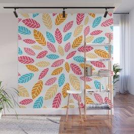 Fresh leaf pattern Wall Mural
