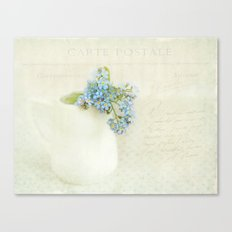 vintage greeting  Canvas Print