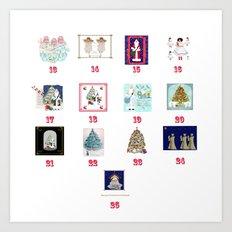Advent Calendar Day Thirteen to Twenty-Five Art Print