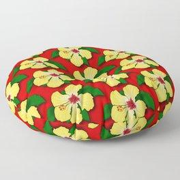 Yellow Hibiscus Floor Pillow