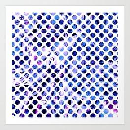 Fluid Dot (Blue Version) Art Print