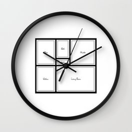 Little Apartment Plan Wall Clock