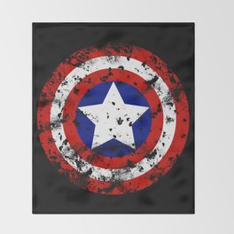 Captain's Shield Throw Blanket