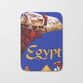 Vintage Egypt Camel Travel Bath Mat