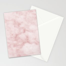 Sivec Rosa - cloudy pastel marble Stationery Cards