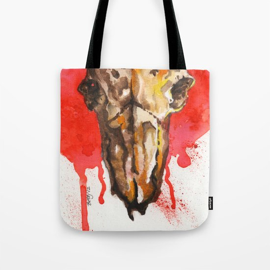 red moon skull Tote Bag