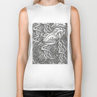 evolution Biker Tanks featuring Evolution  by OKAINA IMAGE