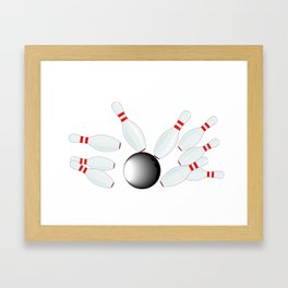 Falling Ten Pins Framed Art Print