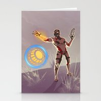 engineer Stationery Cards featuring Mass Effect 3- Engineer Propaganda by Joe Byrne