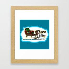 Sleigh Ride Framed Art Print