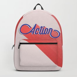 Action - typography Backpack