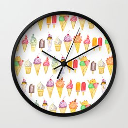 Watercolour Ice Cream Wall Clock