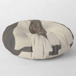 No more showers - Beautiful dog fine art work with a funny twist Floor Pillow