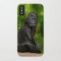 gorilla iPhone & iPod Cases featuring Gorilla by Julie Hoddinott