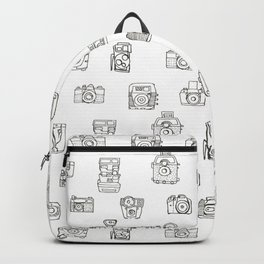 Cameras: Black - pop art illustration Backpack