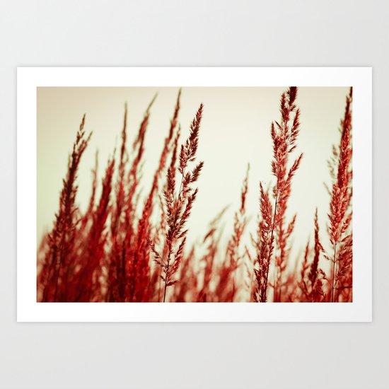 whispering grasses II Art Print