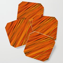 Rough Red Embers Abstract Coaster