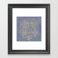 Psalm 10 Framed Art Print