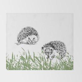 Hedgehogs print Throw Blanket
