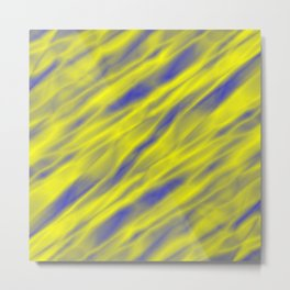 A pastel cluster of yellow bodies on a light background. Metal Print