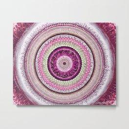 Pure Rose Mandala Metal Print