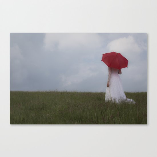 Red and White I Canvas Print