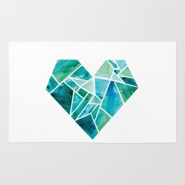 "Wholeheartedly ""Whole Heart"" Blues + Greens Rug"