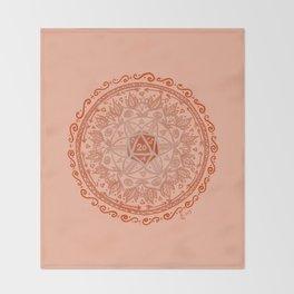 d20 Mandala Throw Blanket
